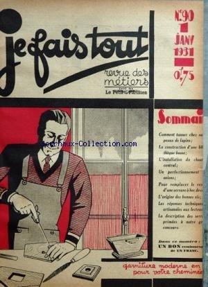JE FAIS TOUT [No 90] du 01/01/1931