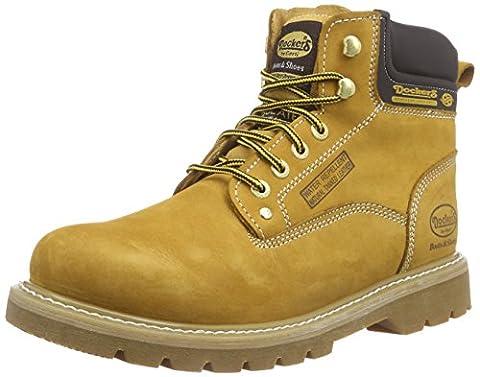 Dockers by Gerli 23DA004-300910, Herren Combat Boots, Gelb (golden tan 910), 43 EU