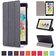 Coque ASUS ZenPad C 7.0 170C - Style de Smart Cover Case Etui à Rabat avec Support Ultra-mince et léger Housse de Protection pour Tablette Asus ZenPad C 7.0 Z170C Z170CG Z170MG 7'' Pouces Coque en Cuir Pochette (Noir)
