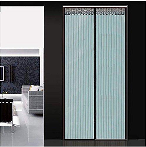 Q&f zanzariera magnetica per porte premium tenda zanzariera porta finestra tenda zanzariera magnetica bianca tiene le zanzare fuori-100x210cm(39x83inch)