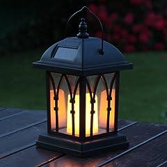 schwarze mit LED Kerze und