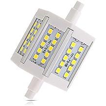 SODIAL (R) R7S 6W 30 LEDs SMD2835 bombillas de la lampara centro de atencion a 540LM 6500K 78mm blanca