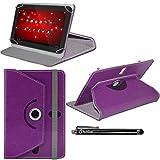 iTechCover® Purple Universal Pu Leather Case for Alcatel