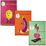 COUCKE Geschirrtuch, Baumwolle, Obst und Gemüse-Motiv,
