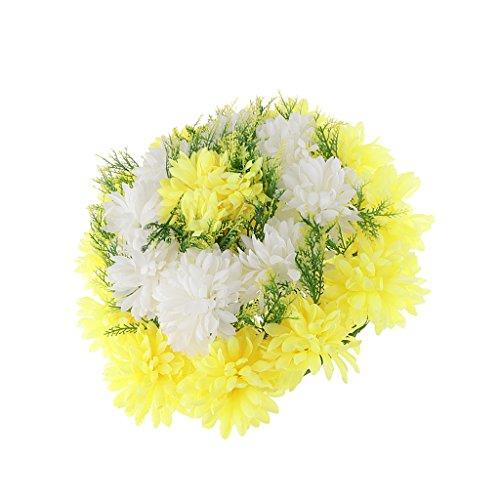 SM SunniMix Kunstblumen Grabschmuck Grabgesteck Grabblumen Allerheiligen Grab Dekoration für Gestorben Menschen