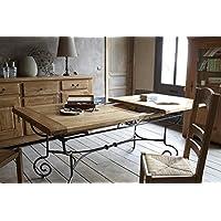 table rectangulaire batista fer forg bois 190cm meuble house