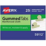 Avery Gummed Index Tabs, 25 Gray Tabs, Pack of 25 (59112)