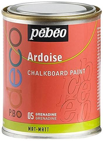 Pébéo 093505 Déco Acrylique Ardoise 1 Boîte Métal Grenadine 250