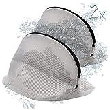 FROGANDO 2 Stück Wäschenetz für Waschmaschine - Schuhe, BH uvm - verbesserter Reißverschluss - Waschen, Reisen, Aufbewahren - 2er Set