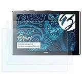 Bruni Schutzfolie für Acer Iconia One 10 (B3-A40) Folie - 2 x glasklare Displayschutzfolie