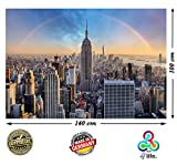 !!AKTIONS-PREIS!! New York City Empire State Building XXL Poster 140cm x 100cm HD Wandbild Hochauflösende Wanddekoration Bild für Wandgestaltung | Fotoposter Manhattan downtown USA | + Kalender 2018