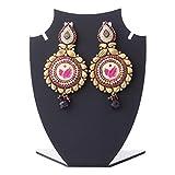 Aaina New Polki Multicolor Copper Earing...