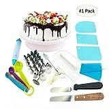 Herramientas para decoración de pasteles, 41 unidades/set de accesorios para decoración de cupcakes, accesorios para decoración de pasteles, suministros para hornear/pastelería