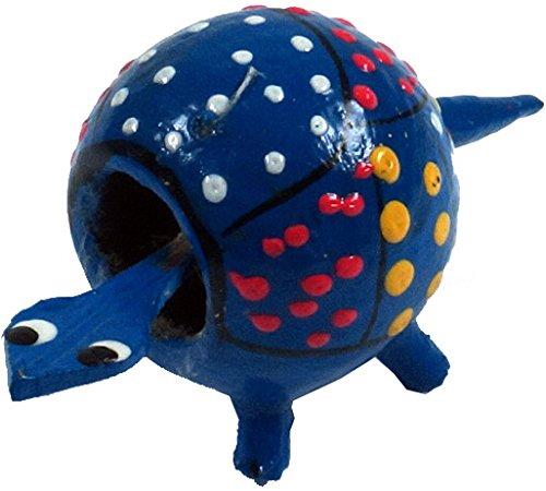 Guru-Shop Wackeltier Schildkröte, Wackelkopf Tier, Blau, Farbe: Blau, 2,5x4 cm, Kleine Tierfiguren