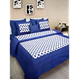 Jaipur Prints Original Cotton Tradition Floral Prints Jaipuri Bedsheet Double Bed With Big Size Pillow Covers