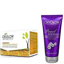OXYGLOW GOLD BLEACH AND PEARL WHITENING FACE WASH