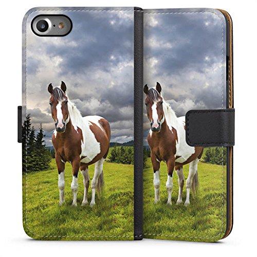 DeinDesign Apple iPhone 7 Tasche Leder Flip Case Hülle Pferd Horse Stute