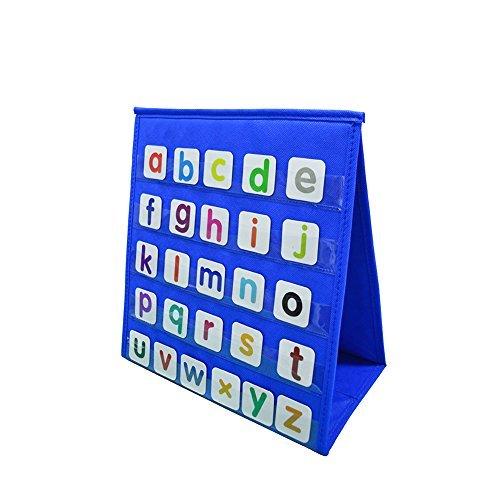 godery Tischplatte Tasche Diagramm, doppelseitig & vielseitig einsetzbares Pocket Diagramm–Zahlen und Worte Aktivitäten, Klasse, Familie Educational Werkzeug