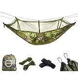 AKM Hängematte Outdoor Ultraleichte Camping aus Fallschirmseide mit Moskitonetz Ultra-Light Reise-Hängematte 280 x 150 cm