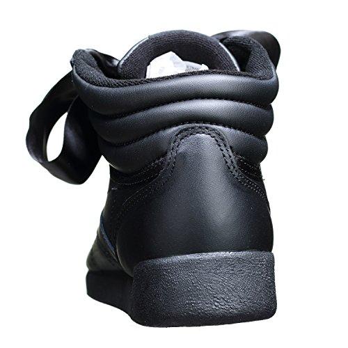 Reebok Freestyle Hi Satin Bow, Baskets Hautes Femme, Weiß Noir (Blackskull Grey Blackskull Grey)
