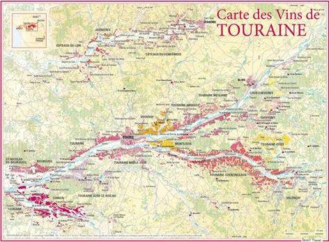 Carte des vins de Touraine par Benoit France