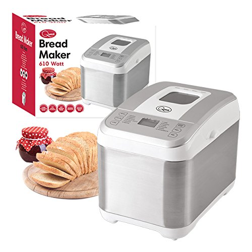 513hZfJ3H3L - BEST BUY #1 Quest Benross 12 Program Bread Maker with 13 Hour Timer, 610 W, White Reviews and price compare uk