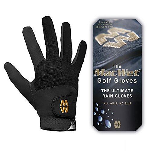 Glenmuir MacWet Micromesh Wet Weather Golf Gloves (Black) Various Sizes
