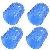 Pu Ran®, salvadita in silicone per proteggere le dita, per chitarra, ukulele, 4 pezzi Navy blue Large