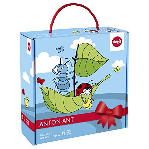 Emsa 509107 6-teiliges Kindergeschirr Geschenk-Set, Geschenkkartonage, Ameisenmotiv, Bunt, Anton Ant