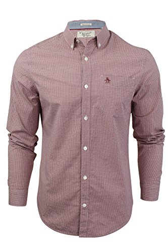 original-penguin-camisa-casual-cuadrados-con-botones-manga-larga-para-hombre-rosa-pomegranate-large