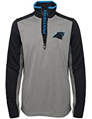 "Carolina Panthers Youth Jeunes NFL ""Matrix"" 1/4 Zip Pullover Sweatshirt Chemise"