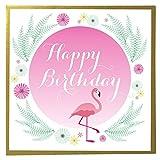 Claire Giles einsehbar Geburtstag Grußkarte–Pink Flamingo