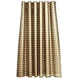 Knbob Gardinen Duschvorhang Gitter Gold Shower Curtain 120X180CM mit Haken Badezimmer Vorhänge