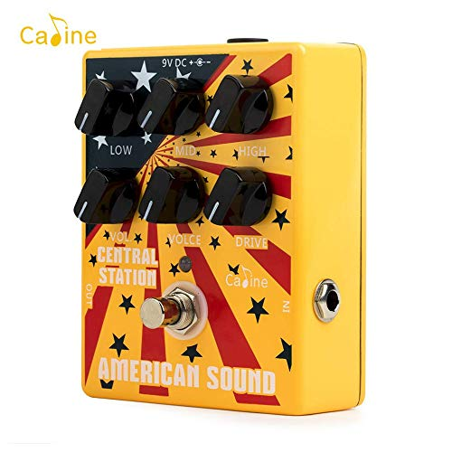 Kalaok CP-55 E-Gitarre Overdrive Distortion Effektpedal High Gain 3-Band EQ Aluminiumlegierung Gehäuse True Bypass