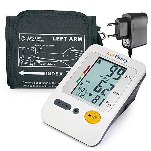 LotFancy Tensiomètre Electronique au Poignet Compact Automatique Professionnel Portable Mesure de la Tension Artérielle et du Rythme Cardiaque, 4 Utilisateurs Dossiers de Santé (8.6'-14')