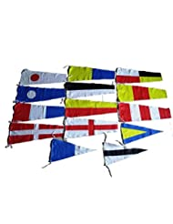 Rhythm Enterprise Naval Signal Flags / Flag Set- 100% Cotton - Set Of Total 14 Flag - Marine / Nautical / Boat / Ship / Maritime