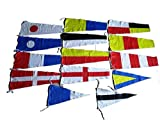 Marine Product - Maritime Signal Code Flag Set - 100% Cotton -Set of Total 14 Flags - Both Sided …