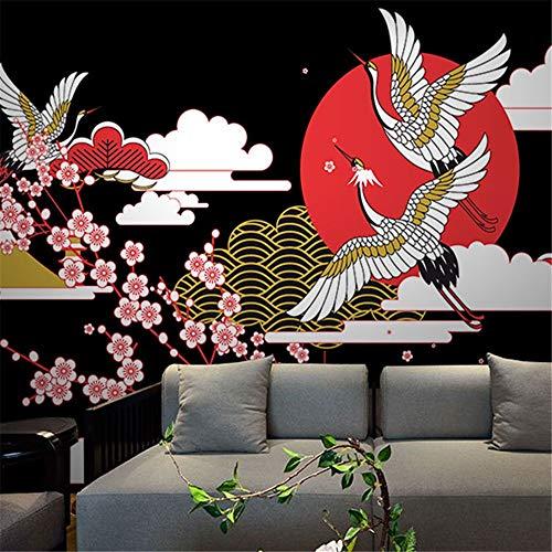 (zyyaky Wallpaper 3D Japaner Ukiyo-E Pilger Retro Nostalgie Restaurant Nahtlose Wandbild Kochen Sushi Schuhe Club)