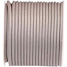 (2mm) 32ft Rotonda Corda in pelle Cord Cord Spool per collana Bracciale Making - D