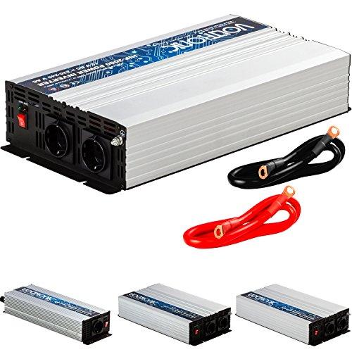 VOLTRONIC REINER SINUS KFZ Spannungswandler Inverter Wechselrichter 12V auf 230V 2000W Stromwandler Auto (Modell 2018) 3 Jahre Garantie