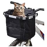 Gugou Transporttasche für kleine Haustiere, Katzen, Hund, Abnehmbarer Fahrrad-Lenkerkorb, Schnellverschluss, einfache Installation, abnehmbare Fahrradtasche, Mountain Picknick, Einkaufen