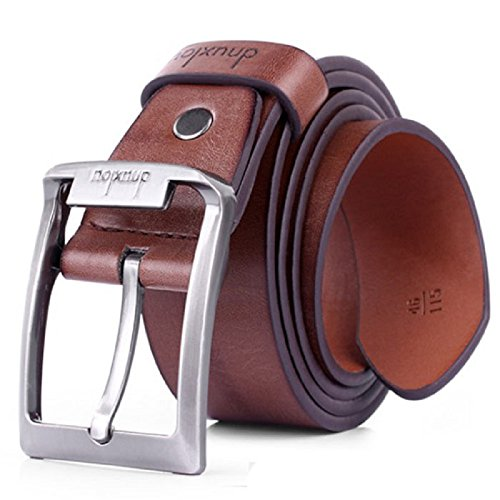 Cintura Uomo,WINWINTOM Cintura di pelle Business Casual