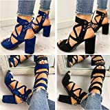 Lailailaily?Straps High?Heel Thick?Fish?Mouth?Sandals?Women's?Back?Hollow?Casual?Shoes
