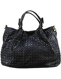 d5c97b0cb6722 BOZANA Bag Rene nero Italy Designer Damen Handtasche Schultertasche Tasche  Schafsleder Shopper Neu
