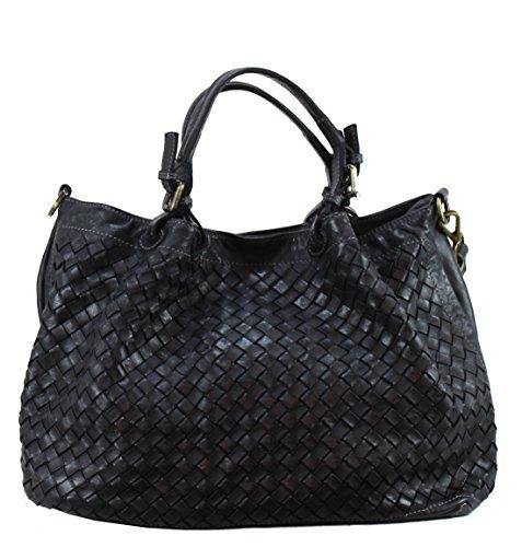 BZNA Bag Rene nero Italy Designer Damen Handtasche Schultertasche Tasche Schafsleder Shopper Neu