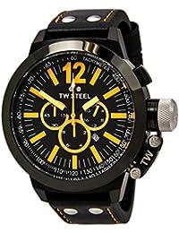 TW Steel CE 1030 - Reloj cronógrafo de caballero con correa de piel negra