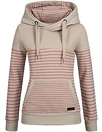 Sublevel Damen Sweatshirt Hoodie Kapuze LSL-287 Streifen