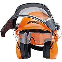 Stihl 0000 884 0180 - Casco de seguridad con gafas protectoras integradas, color naranja