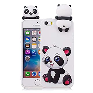 Aeeque 24 Cute Animal Silicone Skin Case Soft TPU Cover Protective Case Bumper with 3D Pattern for iPhone 5S/iPhone 5/iPhone 4.0