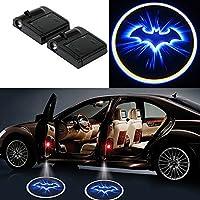 Sedeta 2pcs inalámbrica del coche LED del bulbo de la puerta Luz de cortesía proyector de la insignia de la lámpara brillante Batman